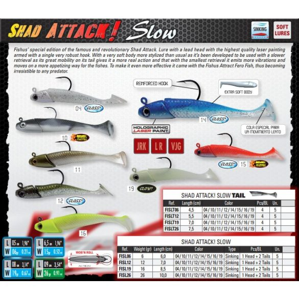 SHAD ATTACK SLOW 6GR COLOR 10