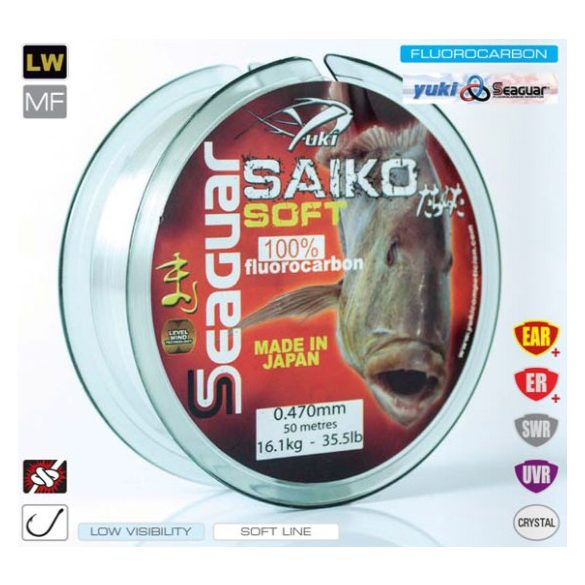 Yuki-Seaguar Saiko Soft Fluorocarbon 0,43 50m