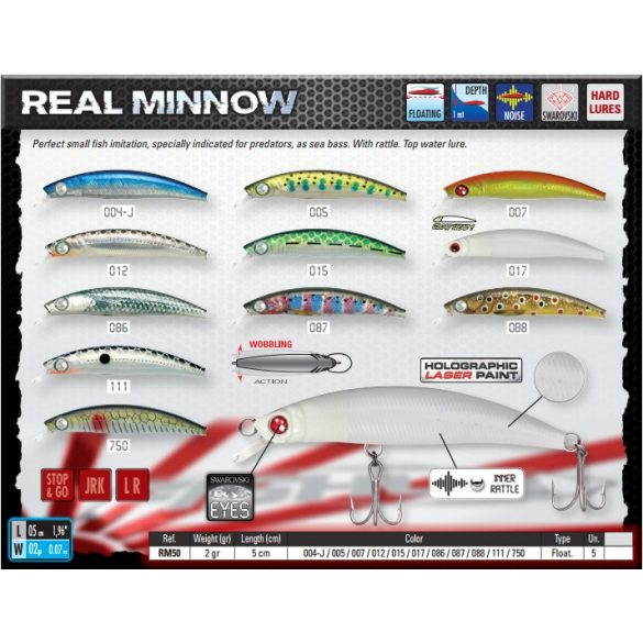 REAL MINNOW 50F Color 087